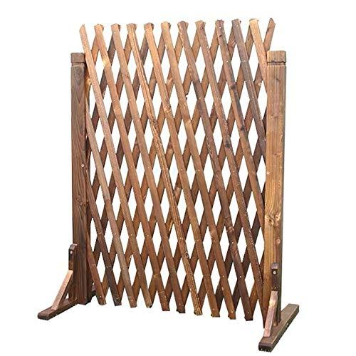 JIANFEI-Weilan Steccato Giardino Legno Recinzione In Legno Estensibile Decorazione Esterna Guardrail, 2 Colori, Più Dimensioni (Size : A-80X160Cm)