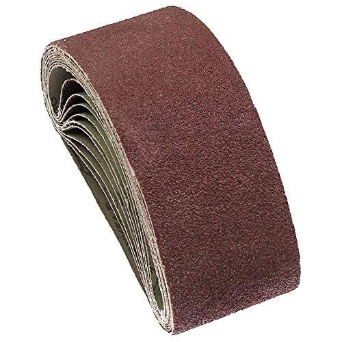 Kuinayouyi 10 Piezas de Bandas Abrasivas de Lijado de 75X457 Mm Bandas Abrasivas de 60 Granos para Lijadoras Herramientas EléCtricas