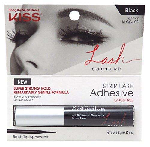 Kiss Lash Couture Adhesive Strip Lash Black (2 Pack)