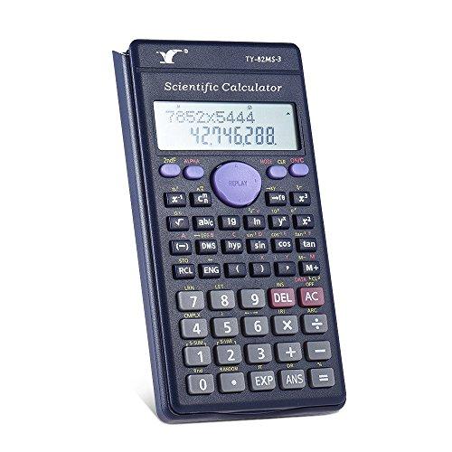 Leslaur Wissenschaftlicher Taschenrechner Zähler 240 Funktionen 2-zeiliges LCD-Display Geschäftsstelle Mittelschüler SAT/AP-Test Berechnen (Schwarz)