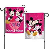 Wincraft Disney Character 12.5' x 18' 2-Sided Garden Flag (Mickey and Minnie Love Happens Here)