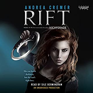 Rift     A Nightshade Novel              By:                                                                                                                                 Andrea Cremer                               Narrated by:                                                                                                                                 Sile Bermingham                      Length: 12 hrs and 11 mins     77 ratings     Overall 4.5