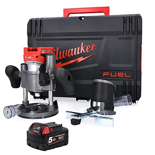 Milwaukee M18FTR 18V M18 Fuel Cordless Trimmer Router with 1 x 5.0Ah Battery & Case