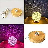 STGLED テーブルランプ LED台座 光るコースター 照明 USB型 調光可能 テーブルランプテール ウッド ナチュラル おしゃれ
