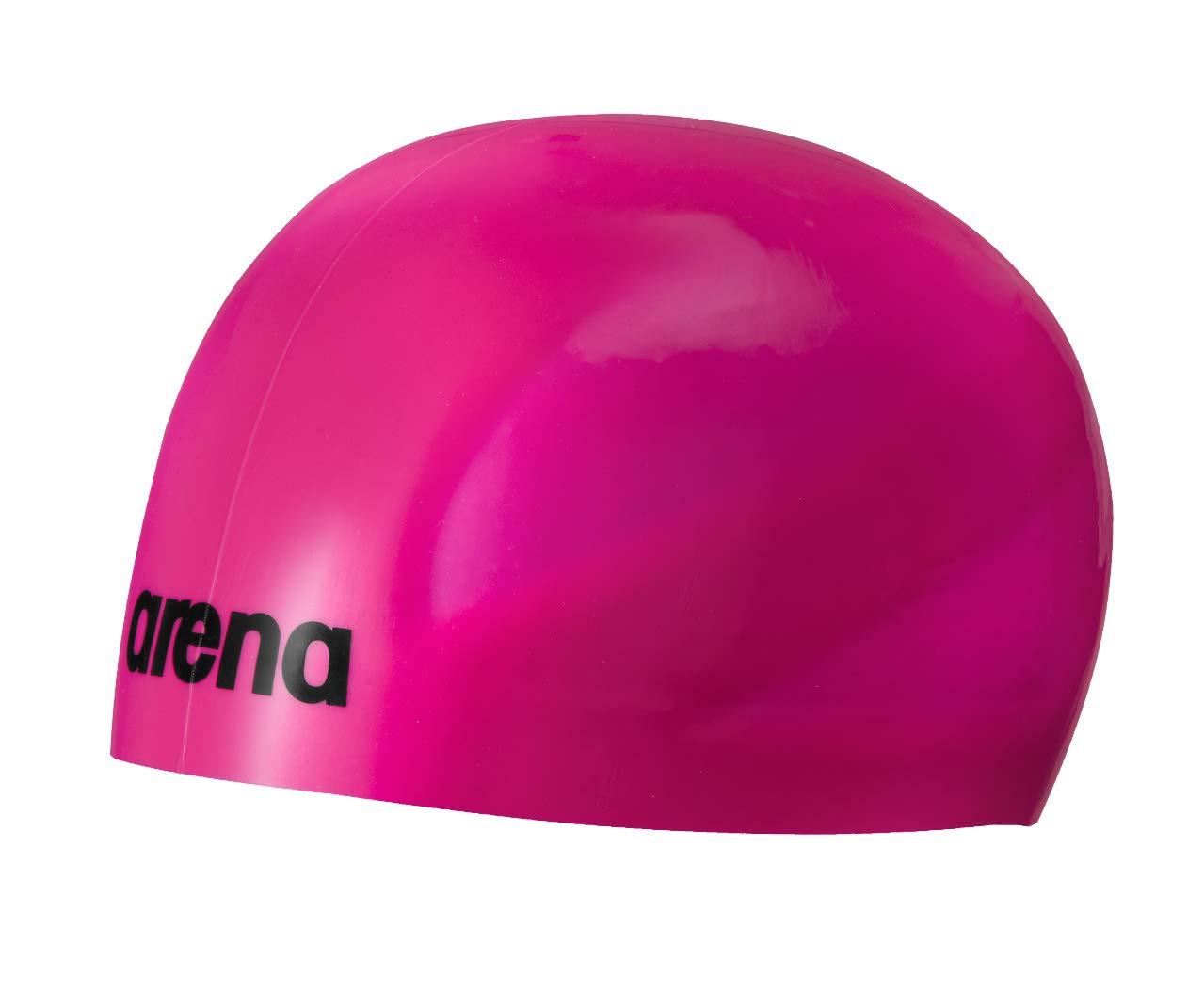 ARENA 3D Ultra Schwimmkappe Unisex Erwachsene, Fuchsia/Schwarz, Einheitsgröße