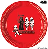 Disney Star Wars 78409 - Platos de papel (tamaño grande, 23 cm, 8 unidades), color rojo