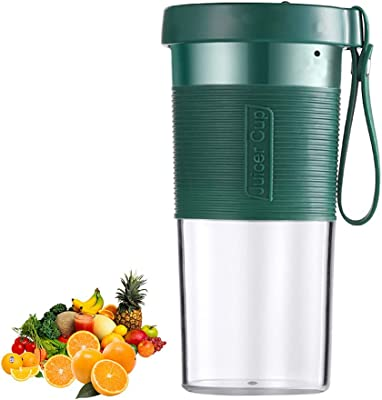 Portable Blender, Personal Size Blender Smoothies And Shakes, Mini Juicer Cup Usb Rechargeable, 21.9 Oz Large Capacity, With 4 Blades And 2000 Mah Battery, Ice Tray, Detachable Cup Fruit Juice Mixer