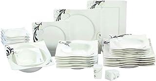 Topkapi Service de table 28 pièces Adorno TK-806 - En porcelaine durable - Pour 6 personnes