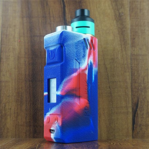 ModShield for IJOY RDTA BOX 200W Silicone Case ByJojo Sleeve Skin Wrap Cover Shield (Red/White/Blue)