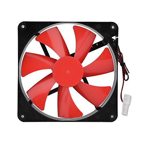 Queen.Y Ventilador de Enfriamiento Ultra Silencioso de La Pc Del Refrigerador de La Caja Del 14Cm 12V para La Computadora de Escritorio