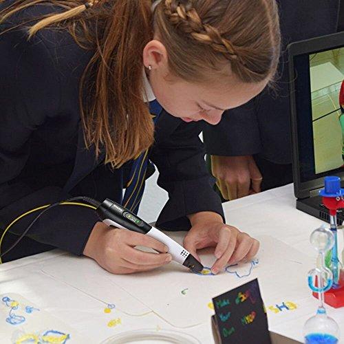 3D Stifte,Jiamus 3D Druck Stifte Set für Kinder mit LCD-Display kompatibel mit PLA ABS-Modus Optionen, Set mit 16 Farben 160 Fuß 1,75 mm Filament Minen und Erwachsene - 7