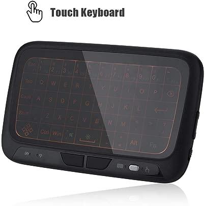 ASHATA Wireless Keyboard  2 4 GHz Mini Wireless Tastatur Hintergrundbeleuchtung Maus Touchpad Mini Air Maus Drahtlose Tastatur Fernbedienung f r PC Tablette HTPC IPTV Android TV Box usw