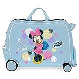 Disney Love Minnie Maleta Infantil Azul 50x38x20 cms Rígida ABS Cierre combinación 34L 2,3Kgs 4 Ruedas Equipaje de Mano