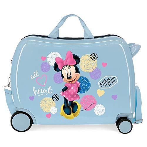 Disney Love Minnie Blue Kids Rolling Suitcase 50x38x20 cm Rigid ABS Combination lock 34 Litre 2.3 Kg 4 Wheels Hand Luggage
