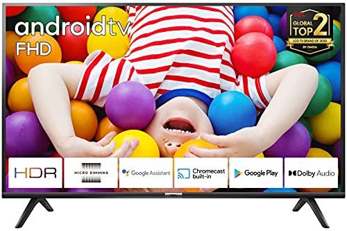 TCL 40ES561, Smart Android TV 40 pollici. Risoluzione HDR, Assistente Google integrato, Dolby Audio