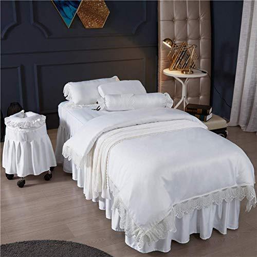 KSWD Luxus Seide Beauty-Bett-Abdeckung 4-stück Weiches Hautfreundliche...