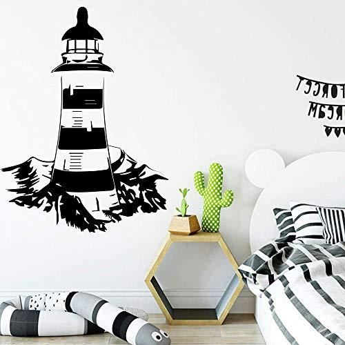 Pegatinas de pared para decoración del hogar, papel tapiz, DIY, torre, casa, pegatina, accesorios, dormitorio, guardería, calcomanía artística, regalo 54X76Cm