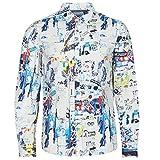 Desigual - Camisa Crispin Hombre Color: Blanco Talla: Size S