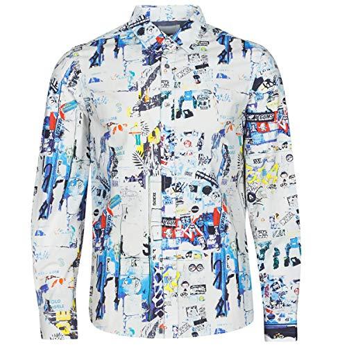 Desigual Crispin Hemden Herren Multicolor - S - Langärmelige Hemden Shirt