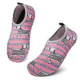 SOLLOMENSI Chaussures Aquatiques Chaussures pour Piscine et Plage Enfants Filles Garçons Séchage Rapide Pieds Nus Plongée Surf Yoga Sport Aquatique
