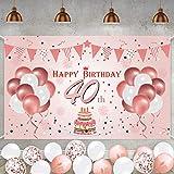40. Geburtstag Roségold Party Dekoration Alles Gute zum