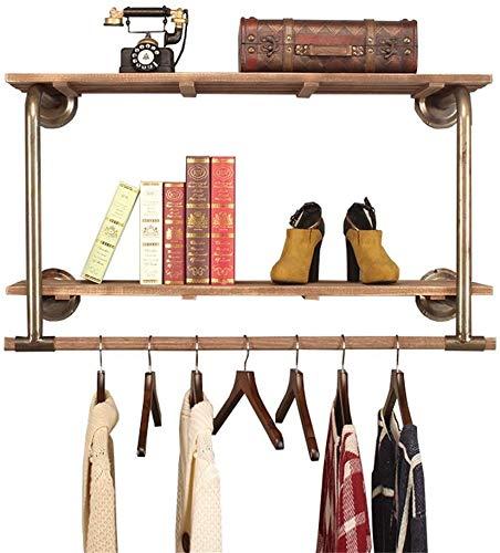 YLCJ Kapstok, wand, van hout, met haken voor kleding, wit, eenvoudig te installeren