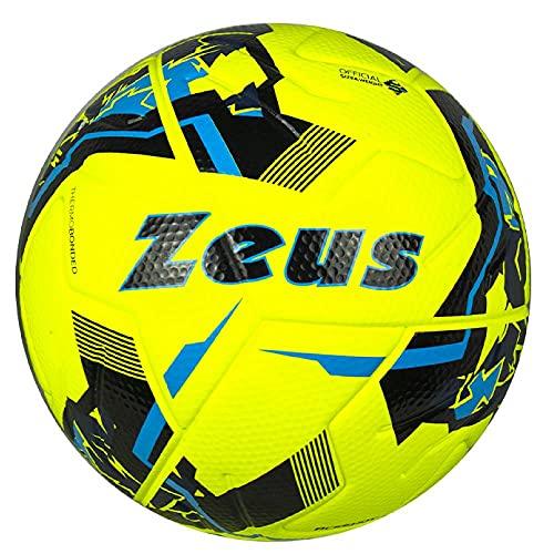 Pallone Da Calcio Zeus ACESHOT Misura 5 Palloni Soccer PS 40501 -giallo flurescente