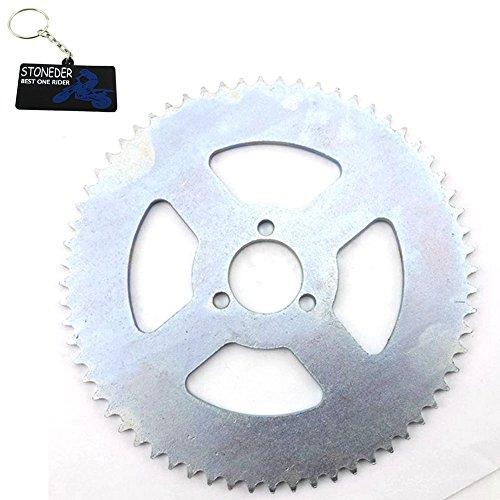 STONEDER Hinteres Kettenrad aus Stahl, 29 mm, T8F, 64 Zähne, für 47 cc, 49 cc, 2-Takt, chinesisches Pocket Bike, Goped Scooter, Mini Moto Kinder, ATV Quad