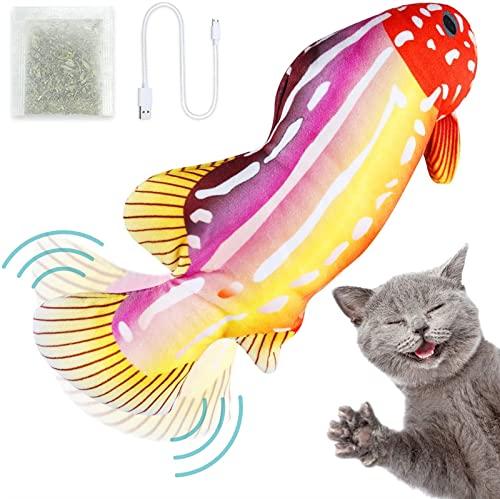 BIZS Catnip Elettrico Plump SMING PHOW Tyys Cat Toys, USB Giocattoli Ricaricabili con Gattino Flopping, Cat Interactive Cat Makey Toys Forniture per Gatti (Colore : Un)