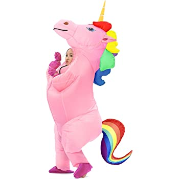 com-four® Disfraz Unicornio para Adultos, Ideal para Carnaval ...