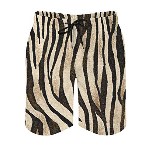 Ouniaodao Traje de baño para hombre con piel de tigre para ocio - pantalones cortos