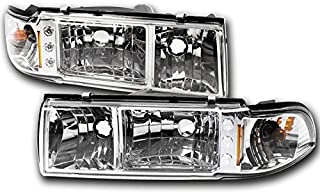 ZMAUTOPARTS Chevy Caprice/+ Impala LED Crystal Headlight Lamp W/Corner Signal Chrome
