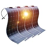 DOKIO Semi-Flexible Solar Panel 4X100W(400W) 12V Lightweight Monocrystalline for...
