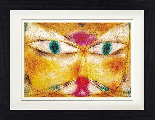 1art1 Paul Klee - Katze Und Vogel, 1928 Gerahmtes Bild Mit Edlem Passepartout | Wand-Bilder | Kunstdruck Poster Im Bilderrahmen 40 x 30 cm