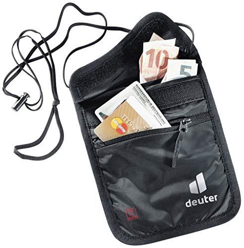Deuter Security Wallet II RFID Block, Portadocumenti da Collo Unisex-Adulti, Nero, Taglia Unica