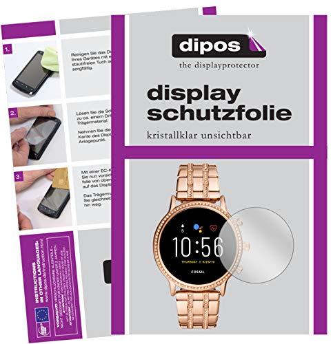 dipos I 6X Schutzfolie klar kompatibel mit Fossil Julianna HR (5. Gen.) Folie Displayschutzfolie