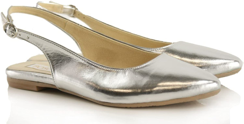 BOSCCOLO 4039 Ballerinas, Silber, Silber, Ballerines, Leder, Leather, Cuir  Steckdose online