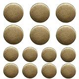 ByaHoGa 14 Pezzi Bronzo Bottoni Metallo 20mm 15mm Pulsanti per Cucire Mestiere Materiali Tute Giacche Cappotti Uniforme (MB20160)