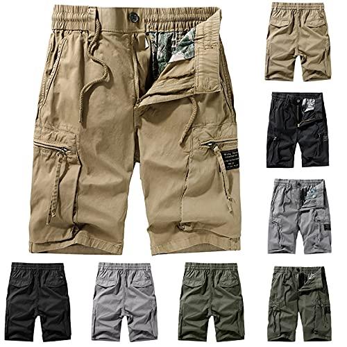 JIAYOUA Herren Cargo Shorts Kurze Hose...