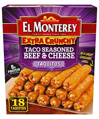 El Monterey, Extra Crunchy Beef & Cheese Taquitos, 24.2 oz (frozen)