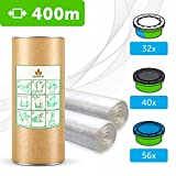 400 M - ECO Recharge de poubelle à couches Compatible Sangenic TEC & Simplee | Angelcare | Litter Locker Recharge équivalente à 32 Sangenic | Qualité Supérieure + Tube Carton EasyRefill+ Parfum Fleurs