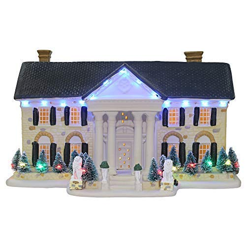 Dyno Seasonal Solutions Elvis Presley Graceland Musical and Illuminated Replica House
