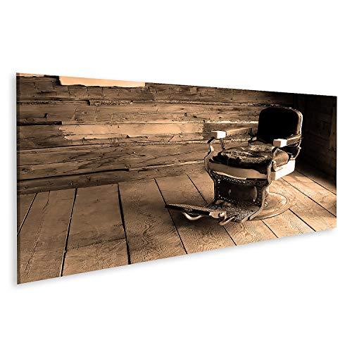 Cuadro en Lienzo Una Vieja Silla de Barberos del Oeste Cuadros Modernos Decoracion Impresión Salon
