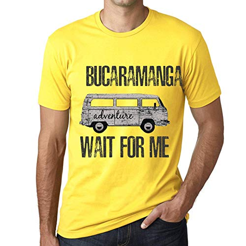 One in the City Hombre Camiseta Vintage T-Shirt Gráfico BUCARAMANGA Wait For Me Amarillo