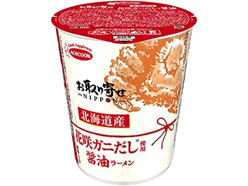 エースコック お取り寄せNIPPON 北海道産花咲ガニだし使用 醤油ラーメン 65g×12