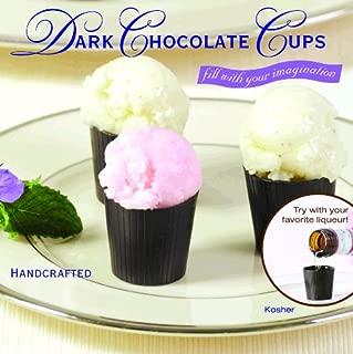 32 Dark Chocolate Liquor Cups Certified Kosher-dairy