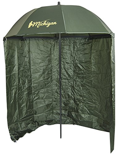 Michigan Fishing Umbrella with Top Tilt and Sides Brolly Shelter 60 Inch