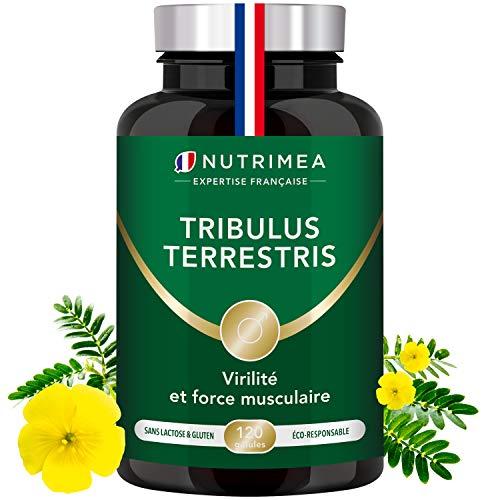 TRIBULUS TERRESTRIS - 900 mg - 120 gélules vegan - Source d'énergie - Performances sportives - Endurance - Croissance musculaire - Fabriqué en France - Nutrimea