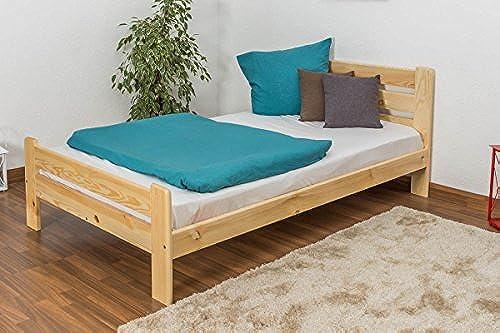 Kinderbett Jugendbett Kiefer Vollholz massiv natur A23, inkl. Lattenrost - Abmessung 120 x 200 cm