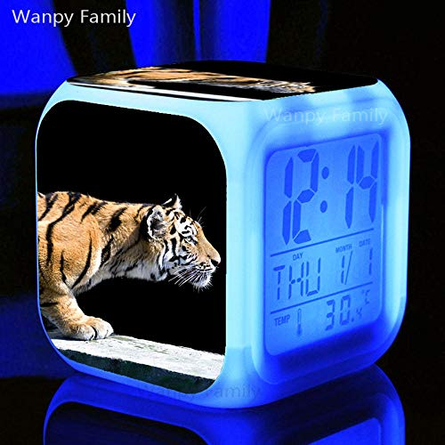 Alarmclocker8B Reloj Despertador Digital de Tigre Regalo de cumpleaño